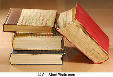 Old Books - Photo of Old Text Books - Library / School...