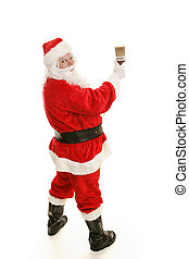 Santa with Paintbrush Complete - Full body view of Santa...