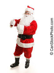 Dancing Santa Boogies - Cheerful dancing Santa Claus. Full...