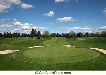 golf course - beautiful golf course landscape