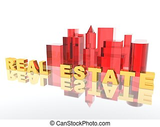real estate - a 3d rendering for real estate advertising