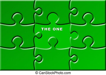 puzzle with missing piece - the one