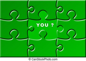 puzzle with a missing piece - you
