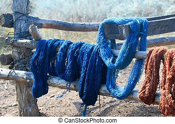 Natural Dyed Yarn - Skeins of naturally dyed handspun yarn...