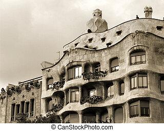 Casa la Pedrera - La Pedrera - famous Antonio Gaudi\\\'s...
