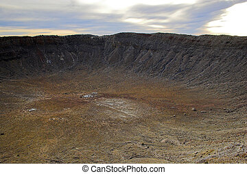 Meteor Crater - Unique geologic formation of explosion...