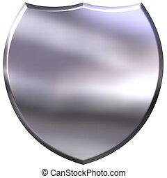3D Silver Shield