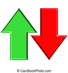 3D Up and Down Arrows