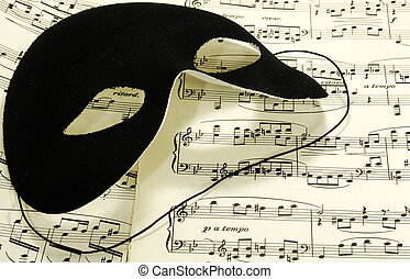 Sheetmusic - Photo of Sheetmusic With a Black Mask -...