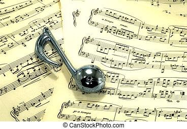 Sheetmusic - Photo of Sheetmusic With Musical Note -...
