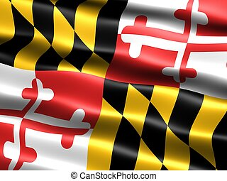 State flag: Maryland - Computer generated illustration of...