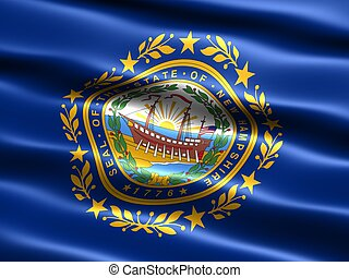 State flag: New Hampshire - Computer generated illustration...