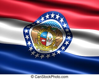State flag: Missouri - Computer generated illustration of...