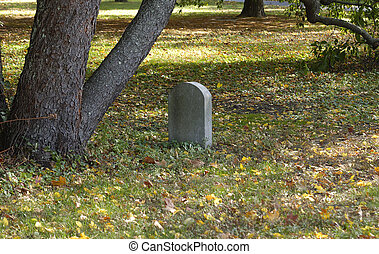 Headstone - Photo of a Cemetary Headstone - Outdoors