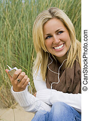 Natural Music - A naturally beautiful young blond woman...