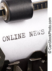 Online News - Typewriter close up shot, concept of Online...