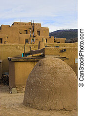 Taos - Fragments of architecture, houses, churches, cemetery...