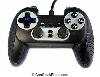 gamepad - The gamepad. Video game controller on white...