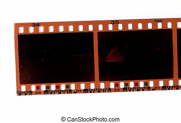 35mm negative color film - Close-up of a 35mm negative color...