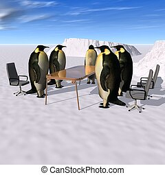 business meeting - a 3d rendering to illustrate the business...
