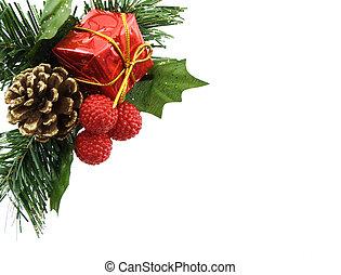 Christmas Decoration - Christmas decoration isolated on a...