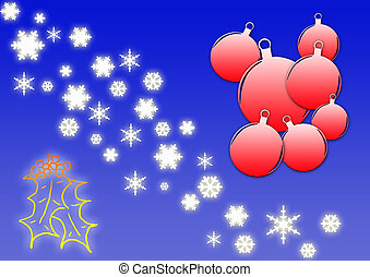 Christmas card - Decorations for this colorful Christmas...