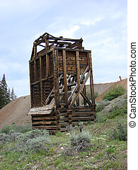 Old Abandoned Mine - An old abandoned mine near Leadville,...