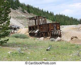 Remains of Abandoned Mine - The remains of an old abandoned...