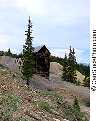 Abandoned Mine - And old abandoned mine the mountains of...