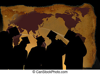 graduation background - graduation related background with...