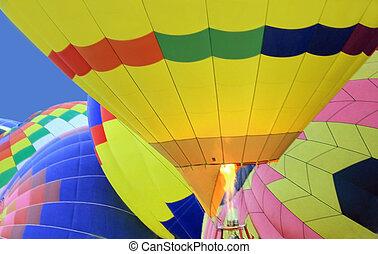 Inflating Balloons - Balloons inflating at the 2007...