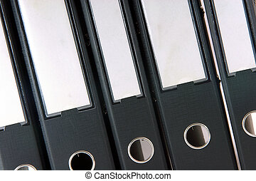 business folders - business archive folders closeup for...