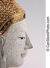 buddha mask profile - buddha wooden decoration mask profile...