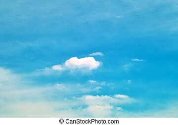 Partly Cloudy Sky - Small clouds against a beautiful blue...