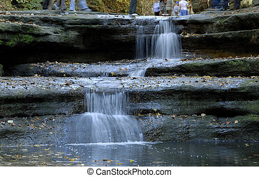 fall season waterfalls - Starved Rock State Park, IL