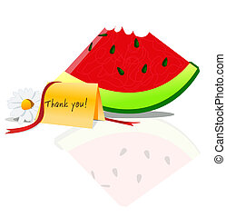 watermelon with thankyou - fresh sliced watermelon with...