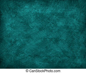 Teal Grunge Background - A teal colored grunge textured...