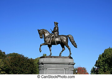 Boston - George Washington Statue in the Public Gardens,...
