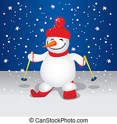 Cute Snowman illustration - Cute Snowman XXL jpeg made from...