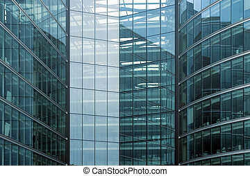 Glass building - Modern office building glass facade...