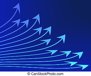 Arrows - Abstract illustration of blue arrows