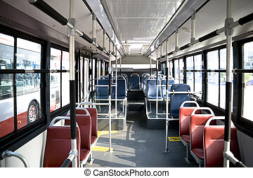 city bus interior,no passengers