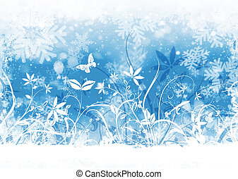 Winter floral - Floral winter abstract