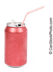 red soda can - a red soda can with white background