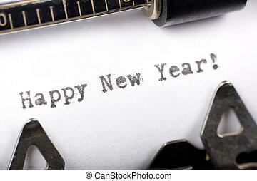 szczęśliwy, nowy, rok