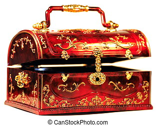 Chest for treasures - Cheap yet attractive red chest for...