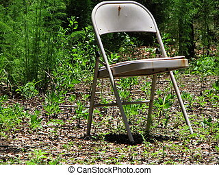 seat in the woods - A chair in the woods with a great view