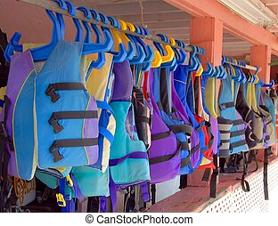 Life Vest - Photographed life vest at jet ski rental area in...