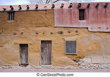 Santa Fe - Views of streets at the historic down town Santa...