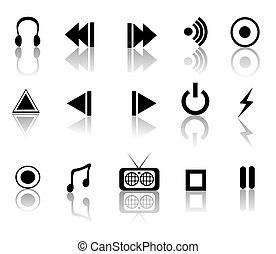 Black and White media set - black and white reflective media...